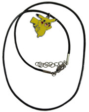 Wax Cord Necklace with Pikachu-Style Enamelled Pendant