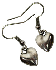 Silver Heart Earrings.
