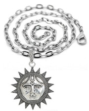 Boho Sun Face Statement Necklace.