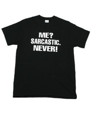 """Me? Sarcastic, Never!"" Regular Fit T-Shirt."