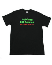 """Zombies Eat Brains - Don't Worry - You're Safe"" Regular Fit T-Shirt."