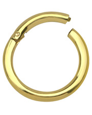 1.6mm Gauge GOLD PVD  Surgical Steel Clicker Hoop.- Choose Your Diameter.