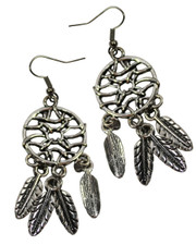 Small Dreamcatcher Dangly Earrings.