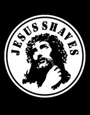 """Jesus Shaves"" T-Shirt."