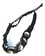 Surf  Style Bracelet with Yin Yang Picture Beads.