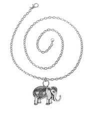 Elephant Pendant Necklace.