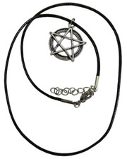 Wax Cord Necklace with a Pentagram Pendant.