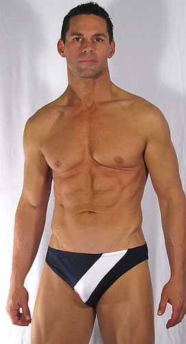 MENS BIKINI - SMOOTH FRONT STRIPE ( 18 Color Selection Combinations)