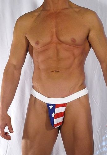 Mens Red White N BlueThong Swimwear