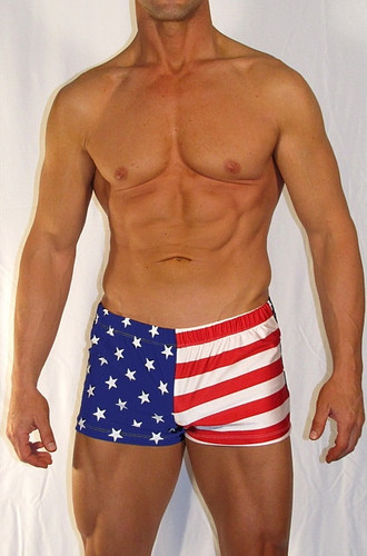 """ RED WHITE N BLUE USA  BOXER SWIMWEAR """