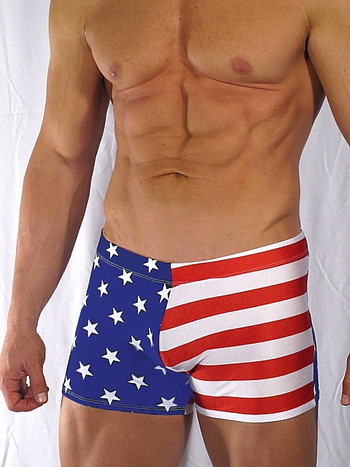 """ RED WHITE N BLUE SQUARECUT SWIMWEAR """