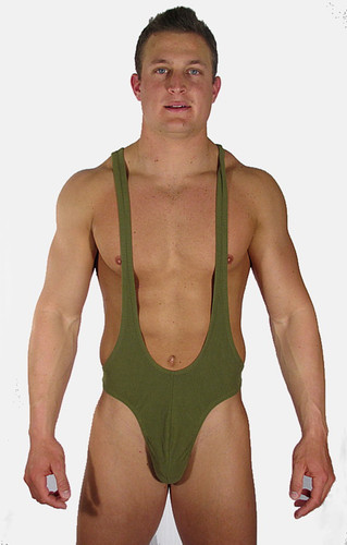 This bodysuit has a lower cut front, showing of your abs. Has a contour front for added room and comfort. Back coverage your choice of customizing.