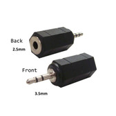 2.5mm Stereo Female to 3.5mm Stereo Male Adapter (25F35MAdapter)