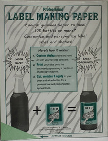 Green Label Making Paper