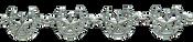 Bar V Bracelet - Linked Horseshoe with Star Centers - 314-061