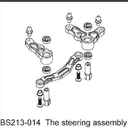 BSD/RED CAT 1/10 Steering Assembly BS213-014