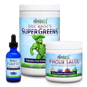 Always Alkaline Pack 2 with SuperGreens 1 lb., pHour Salts, and PuripHy