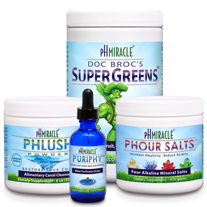Always Alkaline Pro Pack with SuperGreens 1 lb., pHour Salts, PuripHy, and pHlush