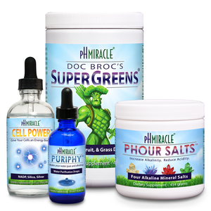 Always Alkaline Pro Pack with SuperGreens 1 lb., pHour Salts, PuripHy, and Cell Power