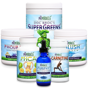 Always Alkaline Weight Loss Pack with SuperGreens 1 lb., pHour Salts, PuripHy, pHlush, pHCA, and L-Carnitine