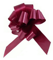 "4"" Matte Pull Bows - 50 bows/case - Burgundy"