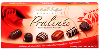 Maitre Truffout assorted red rose pralines..400 gr., 12/cs,