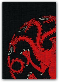 A Game of Thrones Art Sleeves - House Targaryen (50) (HBO Edition)