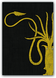 A Game of Thrones Art Sleeves - House Greyjoy (50) (HBO Edition)