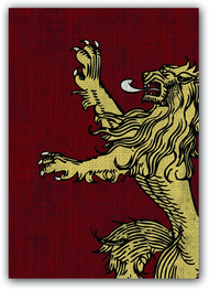 A Game of Thrones Art Sleeves - House Lannister (50) (HBO Edition)