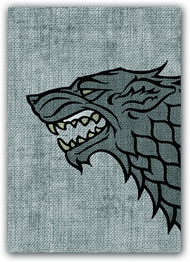 A Game of Thrones Art Sleeves - House Stark (50) (HBO Edition)