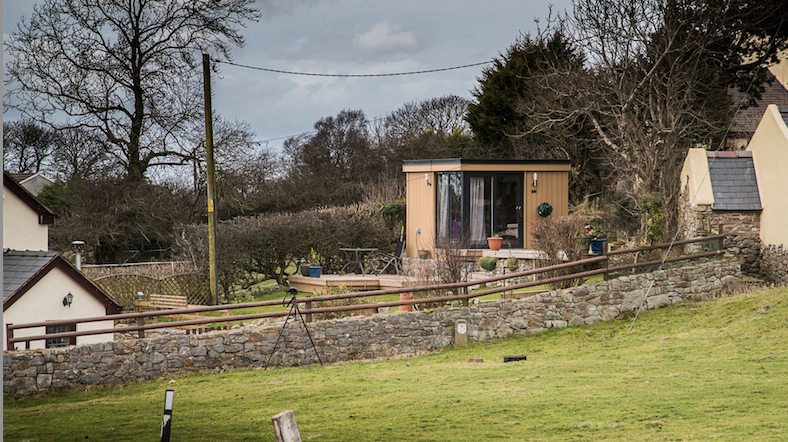 Small Insulated Garden Office in North Wales