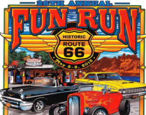 2013 26th Annual Route 66 Fun Run Poster Design