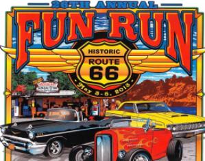 2013 26th Annual Route 66 Fun Run Poster Design
