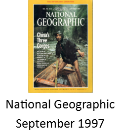 National Geographic September 1997 features Angel and Juan Delgadillo of Route 66 Seligman Arizona
