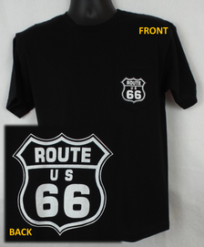 Route 66 Pocket T-shirt: Black