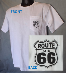 Route 66 Pocket T-shirt: White