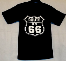 Black Route 66 Pocket T-shirt back