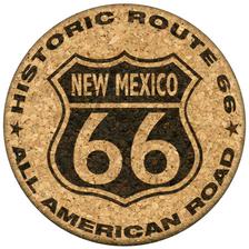 New Mexico Route 66 Cork Coaster