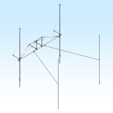H-Frame & T-Brace Kit for 2MXP28 or XP32 Antennas in a 4 Bay Array for MT-1000