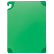 "San Jamar GREEN Saf-T-Grip Cutting Board 12"" x 18"" x 1/2"""