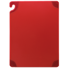 "San Jamar RED Saf-T-Grip Cutting Board 12"" x 18"" x 1/2"""