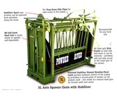 Powder River XL Auto Squeeze Chute, with Self-Catch Head Gate (Available In-Store Only)