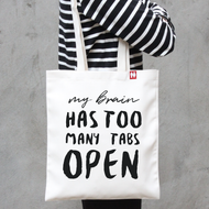 'My brain Has to Many' Tote Bag