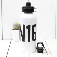 Personalised 'Post Code' Water bottle