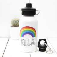 Personalised 'Rainbow' Water bottle