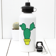Personalised 'Cactus' Water bottle