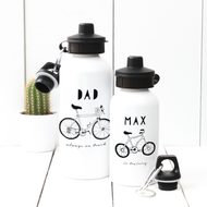 Personalised 'Hand Drawn In Training' Water bottle
