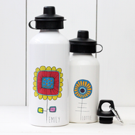 Personalised 'Flower' Water bottle