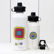 Personalised 'Flower' Water bottle