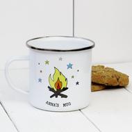 Personalised 'Campfire' Enamel mug
